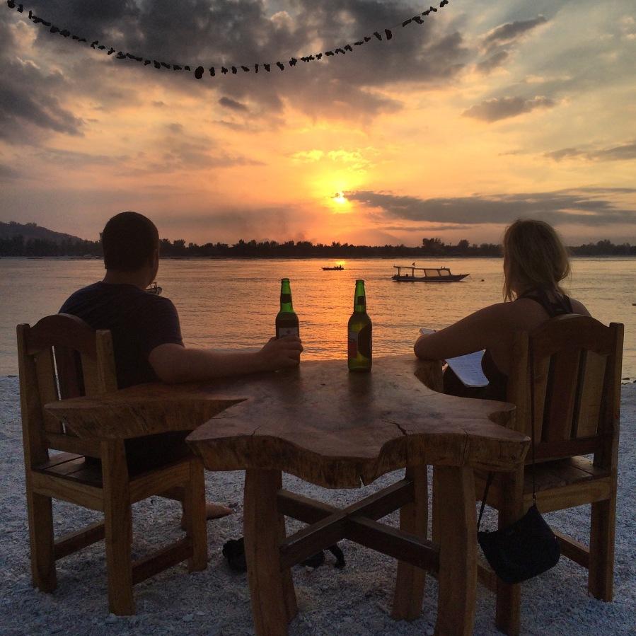 Sunset on Gili Meno, Lombok, Indonesia.