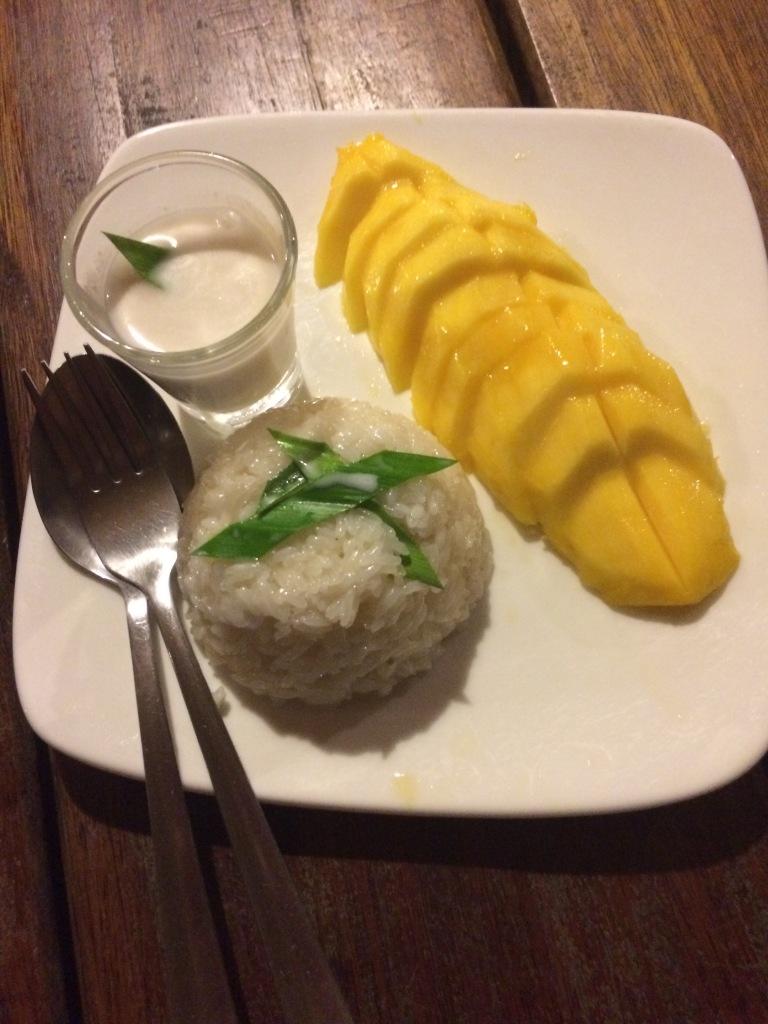 Mango Sticky Rice, the infamous Thai dessert.